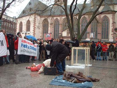 Demo gegen Pelz