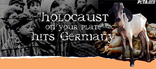 Linktipp - Holocaust on your plate hits Germany - Link zu PeTA.org