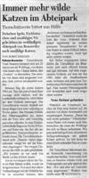 Artikel im Kölner Stadtanzeiger, 29.04.03. Bei Klick Großansicht