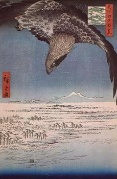 Eagle Flying over the Fukagama District of Edo. Ando Hiroshige