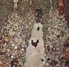aus www.tiere-kunst.de.vu: Gustav Klimt: Garten mit Hühnern (zerstört), 1917, Öl auf Leinwand, 110 × 110 cm.