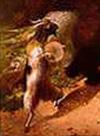 "William Holbrook Beard (1824-1900)  ""March of Silenus"" . Musizierende Ziegenböcke"