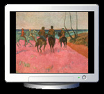 Paul Gaugin: Reiter am Strand